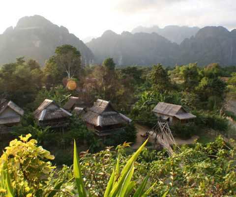Traditional hotel in Laos